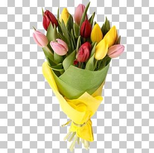 Flower Bouquet Tulip Garden Roses Moonflowers PNG