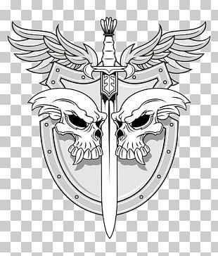 Sword Human Skull Symbolism Shield Illustration PNG