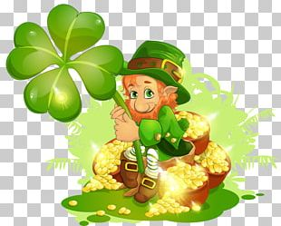 Ireland Saint Patricks Day Leprechaun Shamrock PNG