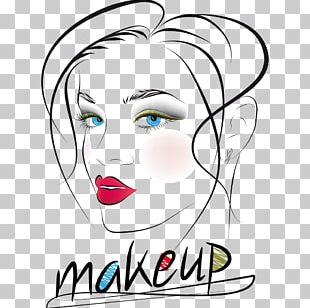 Face Beauty Woman Drawing PNG