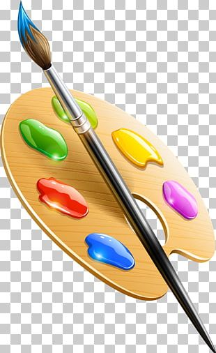 Paintbrush Drawing Palette PNG