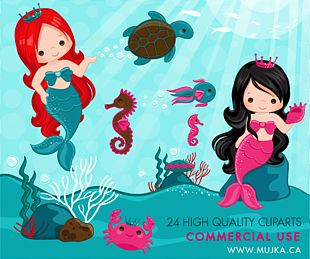 Ariel Mermaid Under The Sea PNG