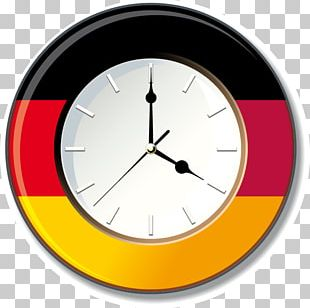 Flag Of Germany Clock Wall Decal PNG