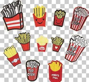 French Fries Food Embroidery Embroidered Patch Clothing PNG