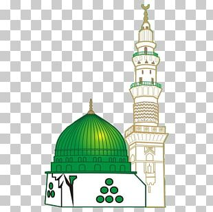 Al-Masjid An-Nabawi Great Mosque Of Mecca Green Dome Imam Ali Mosque PNG