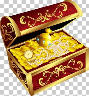 Casket Jewellery Gold Necklace Ring PNG