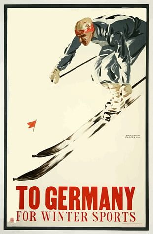 Germany Poster Artist Skiing PNG