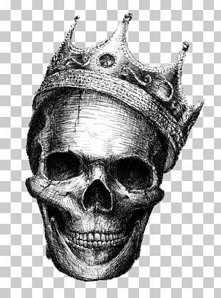 Human Skull Symbolism Drawing Crown Skeleton PNG
