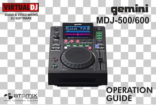 DJ Controller Disc Jockey DJ Mixer Gemini Sound Products Virtual DJ PNG