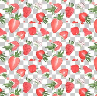 Strawberry Watercolor Painting Illustration PNG