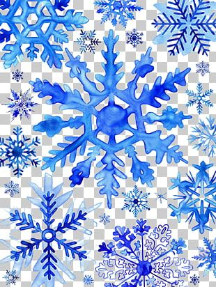 Watercolor Painting Snowflake Drawing Christmas PNG