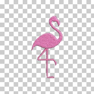 Flamingos Water Bird Embroidery Beak PNG