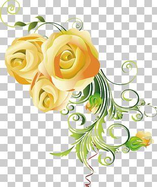 Floral Design Cut Flowers Art Rose PNG