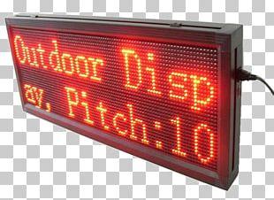 LED Display Display Device Signage Advertising Lighting PNG