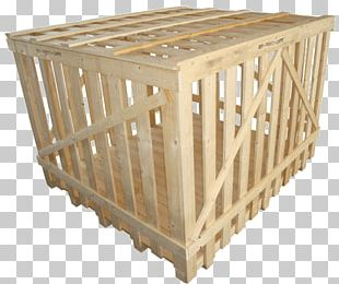 Plywood Packaging And Labeling Transport Pallet PNG