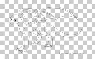 Carnivora Line Art Character Cartoon Sketch PNG