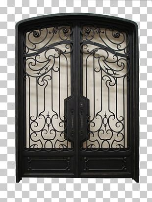 Wrought Iron Door Window Steel PNG