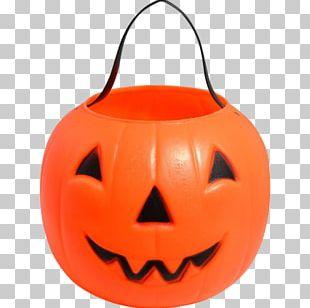 Jack-o'-lantern Halloween Pumpkin Trick-or-treating Bucket PNG