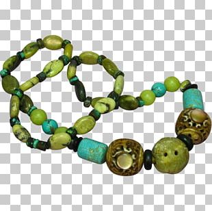 Turquoise Bead Bracelet PNG