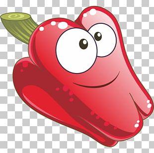 Strawberry Capsicum Bell Pepper Biber Vegetable PNG