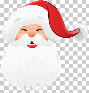 Santa Claus Christmas Face PNG