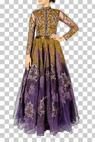 Costume Design Dress Gown Purple PNG