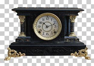 Mantel Clock Antique American Clock Ansonia Clock Company PNG