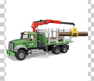 Mack Trucks Logging Truck Bruder Toy PNG