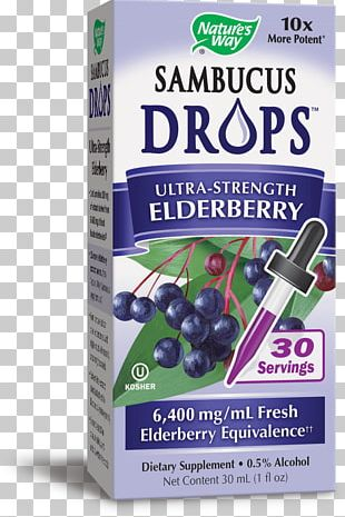 Drop Fluid Ounce Elderberry Dietary Supplement PNG