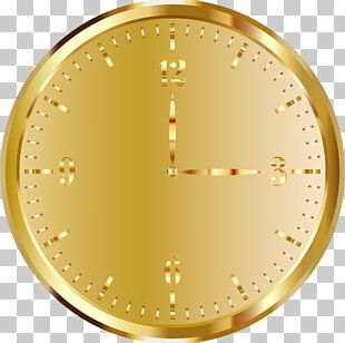 Clock Face Alarm Clocks Gold PNG