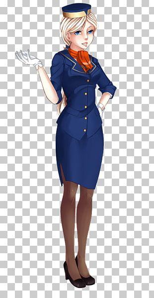 Costume Design Dress Electric Blue PNG