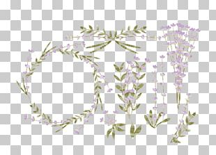 Lavender Flower Euclidean Watercolor Painting Logo PNG