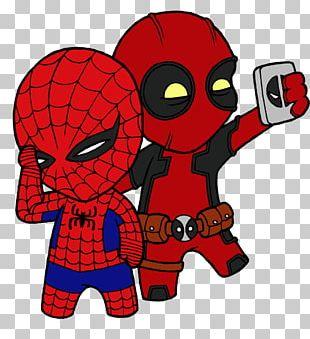 T-shirt Deadpool Spider-Man Sleeve PNG