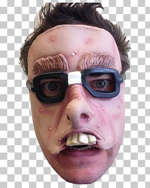 Latex Mask Glasses Costume Party Dress PNG