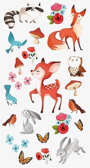 Cartoon Animals PNG