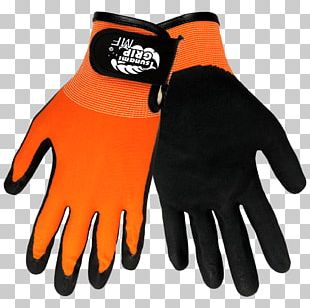 Cycling Glove Schutzhandschuh Nitrile High-visibility Clothing PNG