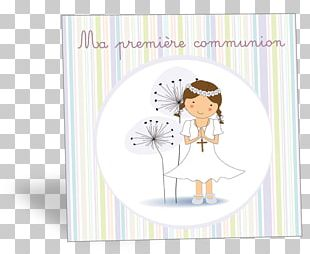 Paper First Communion Eucharist In Memoriam Card PNG