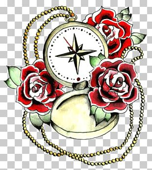 Rose Tattoo Compass Rose PNG