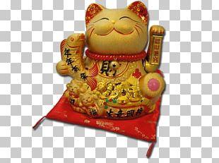 Cat Maneki-neko Luck Paw Figurine PNG