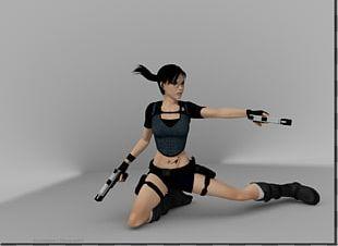 Lara Croft Rendering Blender Cycles Render 3D Computer Graphics PNG