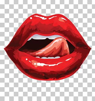 Lip Licking PNG