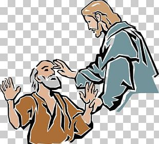 Miracles Of Jesus Healing The Man Blind From Birth Blind Man Of Bethsaida PNG