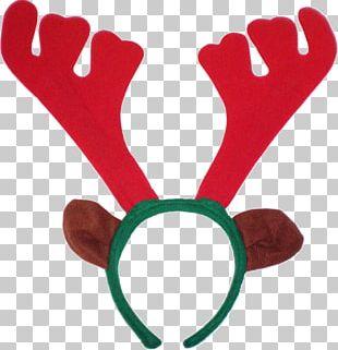 Reindeer Rudolph Antler Christmas PNG