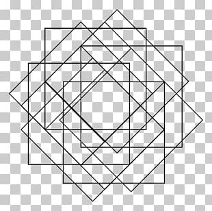 Square Sacred Geometry Pattern PNG