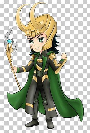 Loki Thor Chibi Drawing PNG