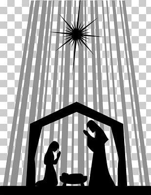 Nativity Of Jesus Nativity Scene Silhouette Manger PNG