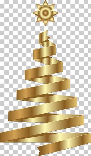 Christmas Tree Christmas Ornament Gold PNG
