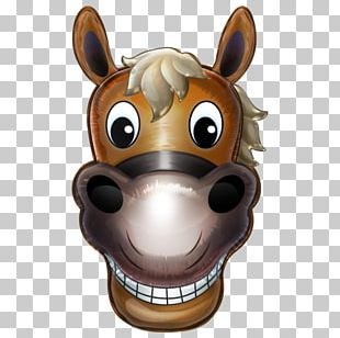 Horse Head Mask Cartoon PNG