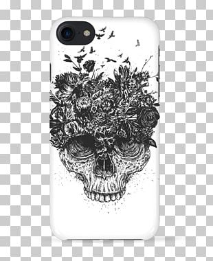 Skull T-shirt Design Samsung Galaxy S8 IPhone X PNG