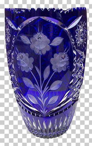 Cobalt Blue Vase Cobalt Glass Bohemian Glass PNG
